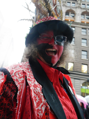a mummer in the Chinese New Year parade