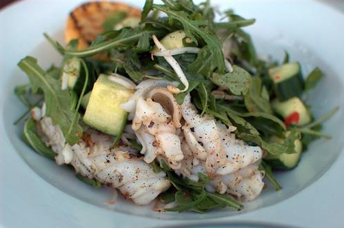 BBQ calamari salad