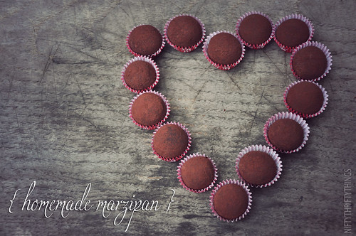 {homemade marzipan}