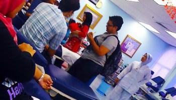 Pelakon wanita Sheera Iskandar menderma darah di PDN