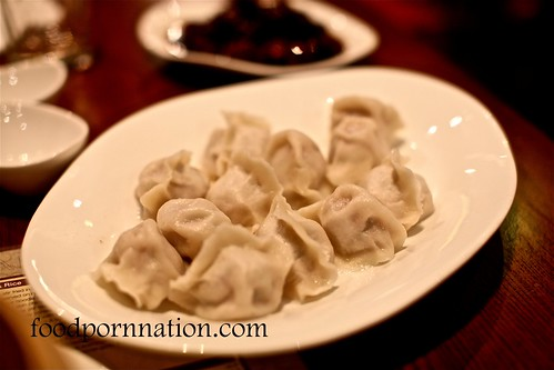 Pork & chive dumplings @ New Shanghai