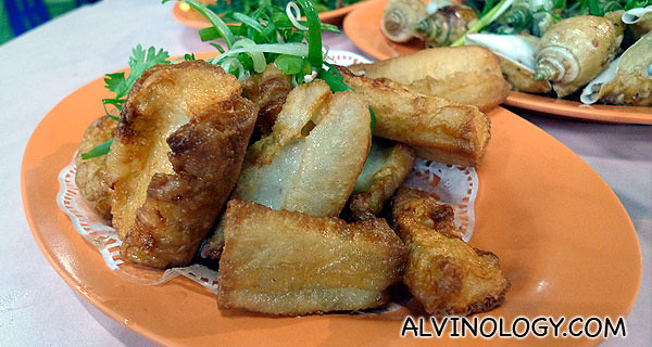Youtiao with prawn paste