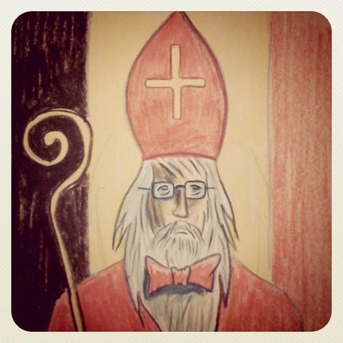 Saint-Nicolas apporte un gouvernement à la Belgique - Illustration : Gilderic