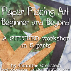 STITCHED banner Paper Piecing Art
