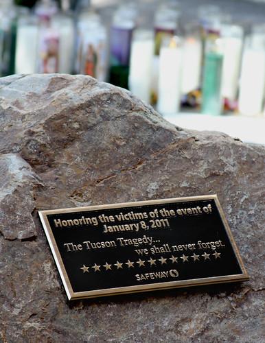 Safeway Memorial - Tucson shooting scene by SearchNetMedia