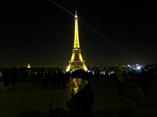 night time at the Eiffel Tower