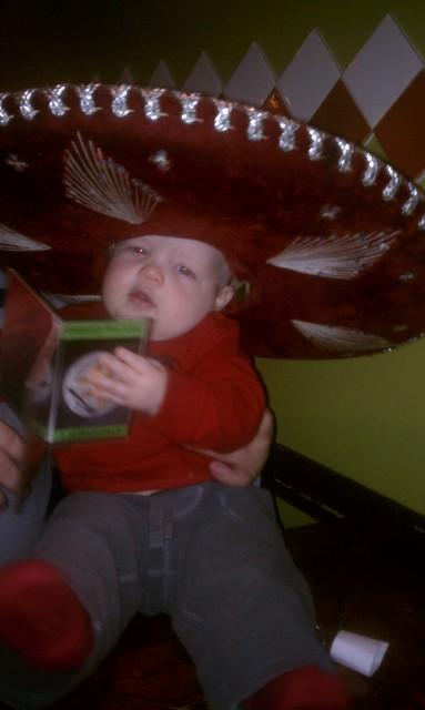 Baby in a sombrero