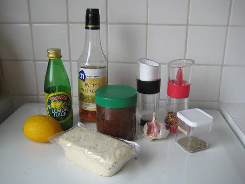 Ingredients for Faux Feta
