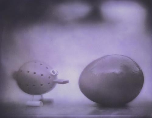 Color Toned Egg and Pon Tiki