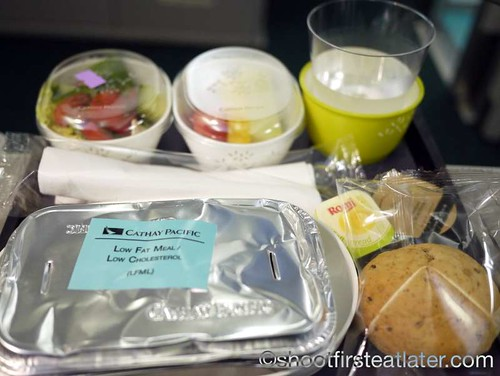 Cathay Pacific Low Fat/Low Cholesterol Meal (LFML)- Long Haul lunch