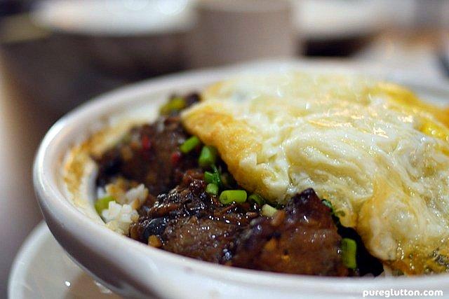blk bean pork ribs rice