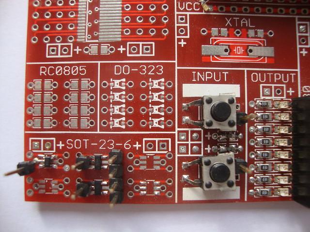 a 0.50mm Dangerous xQFP protoboard