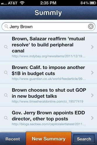 Summly iPhone app screenshot