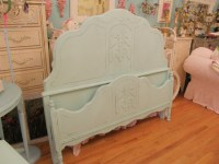 aqua shabby chic distressed antique bed frame | Flickr ...