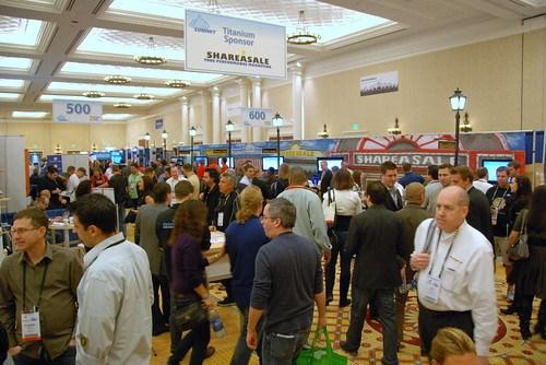 Exhibit Hall at Affiliate Summit West 2012