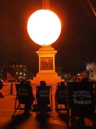 "Greyworld/Tropicana ""Brighter Mornings"" sun in Trafalgar Square"