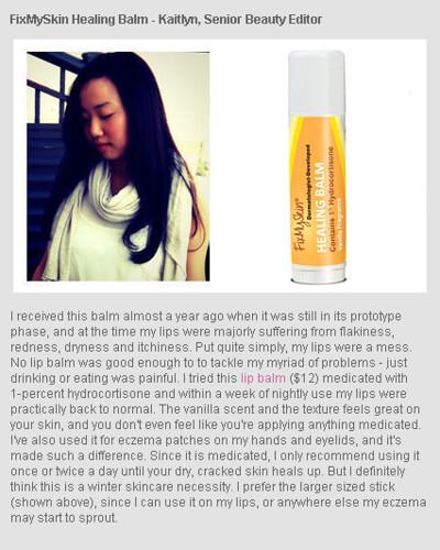 Beauty Blitz - FixMySkin healing balm a winter skincare necessity