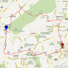 16. Bike Route Map. Princeton NJ
