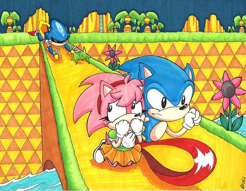 Sonic CD Fan Art Contest Winner - North America