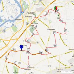 14. Bike Route Map. Hamilton Area YMCA, Crosswicks, NJ