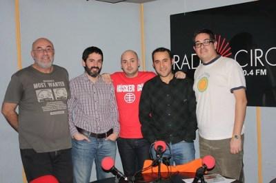 Con Luismi, Chisco y José Luis en la Isla