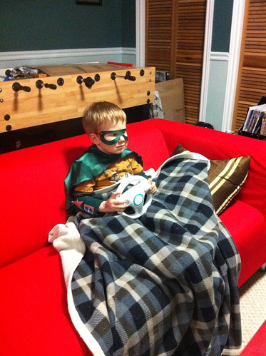 Even super heroes need some down time