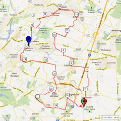 03. Bike Route Map. Etra Lake Park, Hightstown, NJ