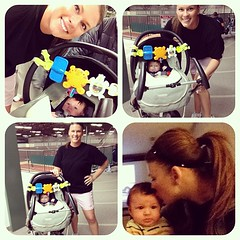 First workout date with little man....  (11 weeks & he was do good!)