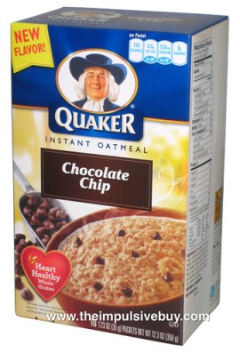 Quaker Chocolate Chip Instant Oatmeal