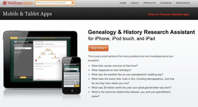 Wolfram Personal Apps - Genealogy & History Research Assistant