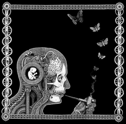 psychedelic art smoker