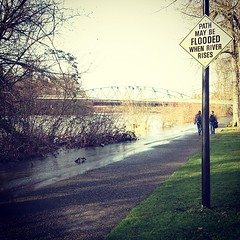 Path May Be Flooded When River Rises