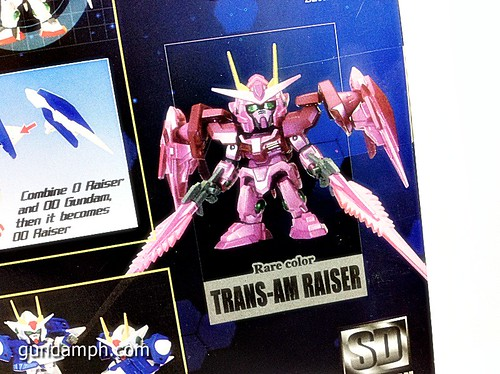 SD Gundam Online Capsule Fighter Trans Am 00 Raiser Rare Color Version Toy Figure Unboxing Review (3)