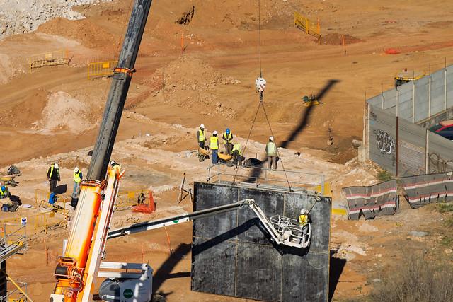 Trabajos arqueológicos junto al nuevo puente del trabajo - 30-01-12