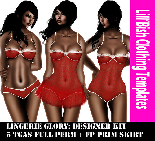 Lill'Bish Glory Lingerie / Designer Kit by Evely Wolff