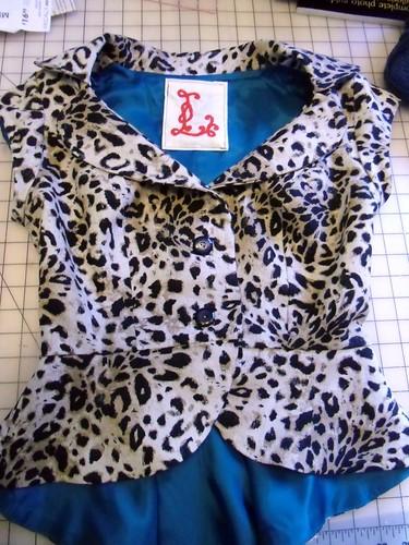 leopard jacket - flat