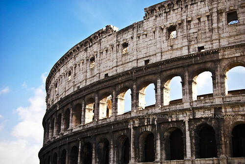 Facade detail: Colosseum, Rome