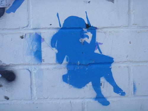Blue girl swinging by KatieTT
