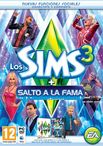 Sims 3 + Showtime Spanish Box Art