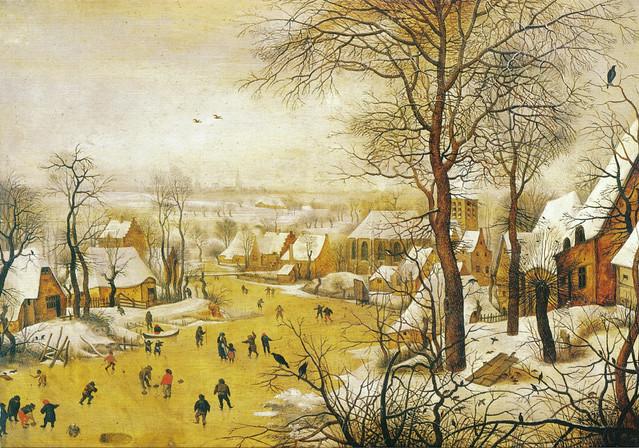 Paesaggio invernale con pattinatori e trappola per uccelli Pieter Bruegel il giovane  Flickr