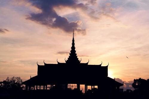 Phnom Penh skies.