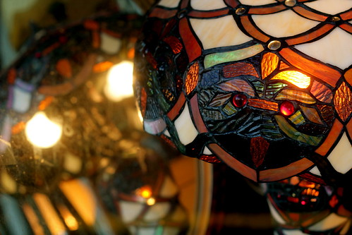 Tuesday: stained glass owl face
