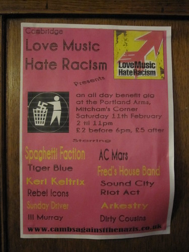 Love Music Hate Racism poster