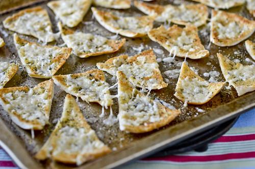 Hummus with Parmesan Herb Pita Chips 7