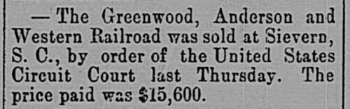 Sievern Railroad Sale