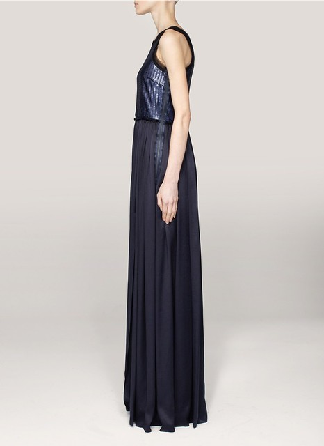 Lanvin Sequined silk-satin dress