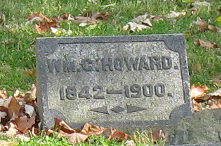 William C. Howard, 1842-1900, Woodland Cemetery, Dayton, Ohio