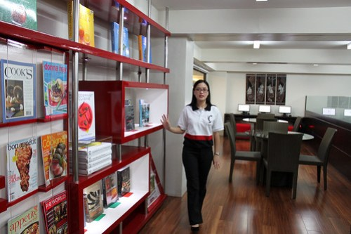 Inside Istituto Culinario's Library