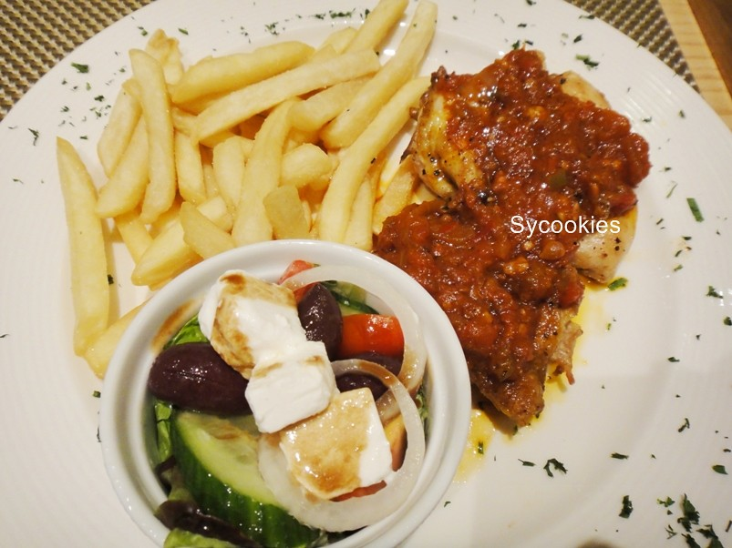8.half a grilled deboned free range chicken-served with rice or chips and peri-peri chicken @ southern sun grayston sandton,