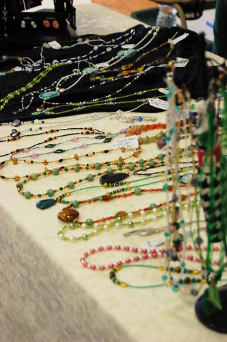 beaded jewelry on display